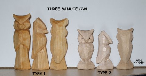 Wood Carving Patterns for Beginners Three Minute Owl