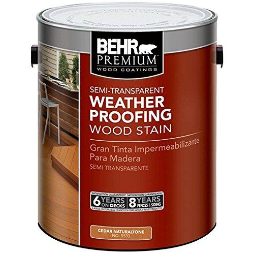 BEHR Premium #ST-533 Cedar Naturaltone Semi-Transparent Waterproofing Stain and Sealer