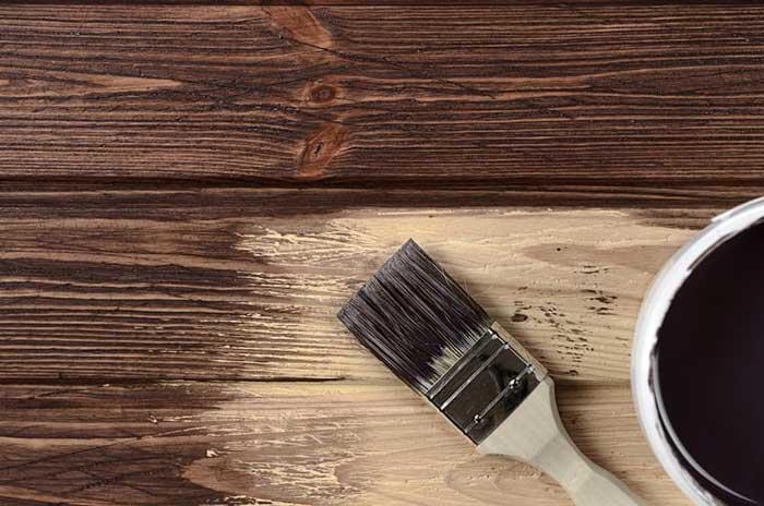 Brush for Staining Wood