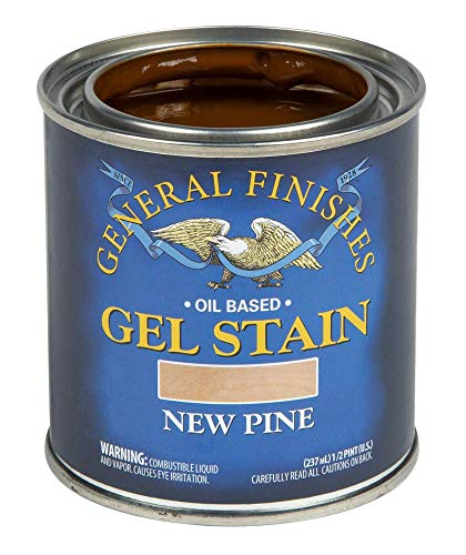 General Finishes Oil Based Gel Stain, 1/2 pint, New Pine
