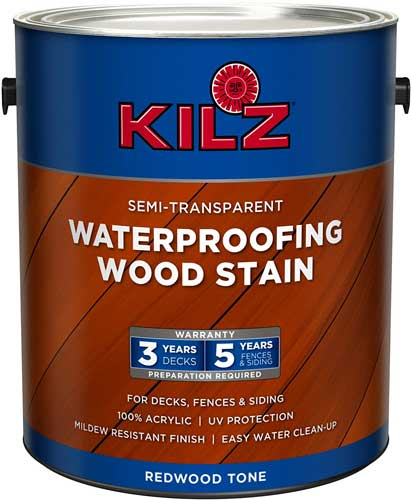 KILZ L832211 Exterior Waterproofing Wood Stain