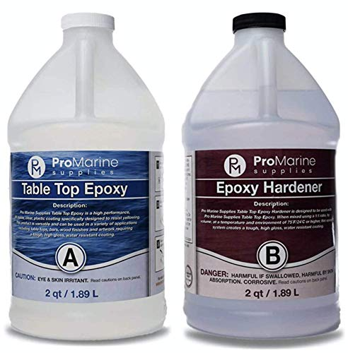 Pro Marine Crystal Clear Bar Table Top Epoxy