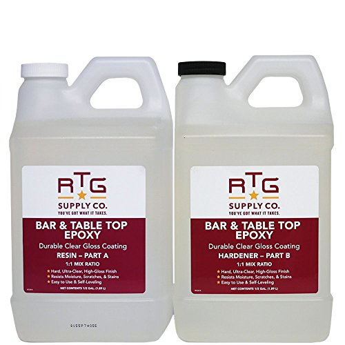 RTG Supply Co. Bar & Table Top Epoxy Resin for Bars Countertops Furniture and Tables
