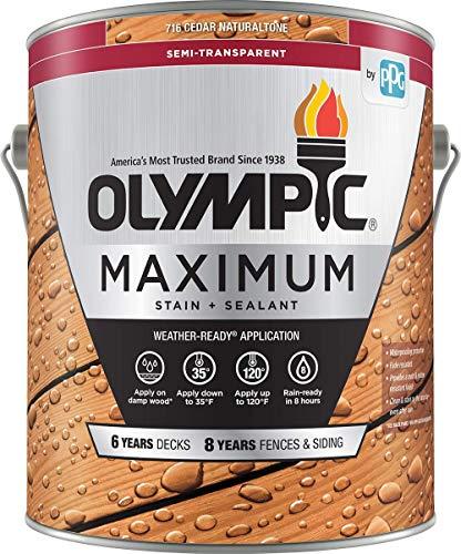Olympic Stain Maximum Deck Stain, Cedar, 1-Gallon